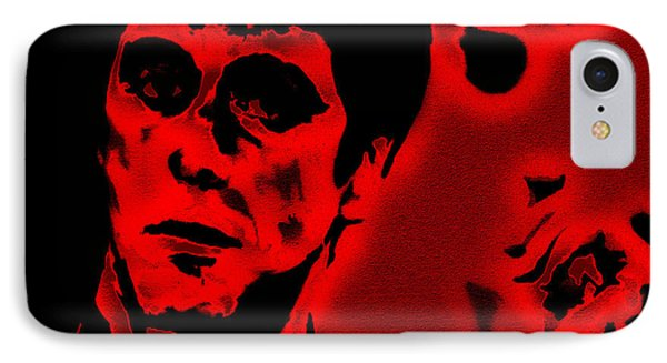 Scarface Red IPhone Case by Brian Reaves