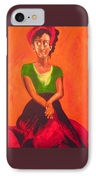 IPhone Case featuring the painting Scarlet by Esther Newman-Cohen