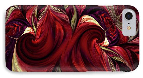 IPhone Case featuring the digital art Scarlet Red by Deborah Benoit