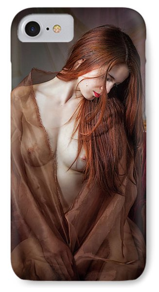 IPhone Case featuring the photograph Scarlet Repose by Rikk Flohr