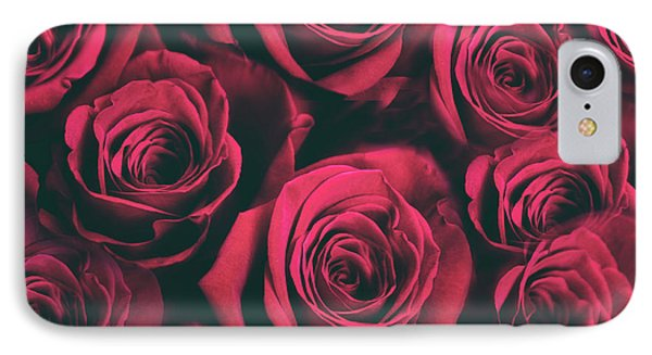 IPhone 7 Case featuring the photograph Scarlet Roses by Jessica Jenney