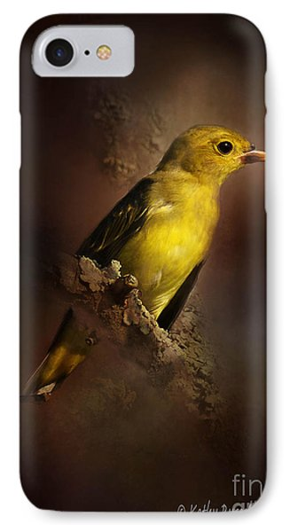 Scarlet Tanager IPhone Case by Kathy Russell