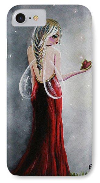 Scarlett - Original Fairy Art IPhone Case by Shawna Erback