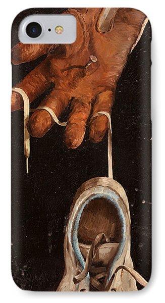 Scarpa Stringa Guanto Aglio IPhone Case by Guido Borelli