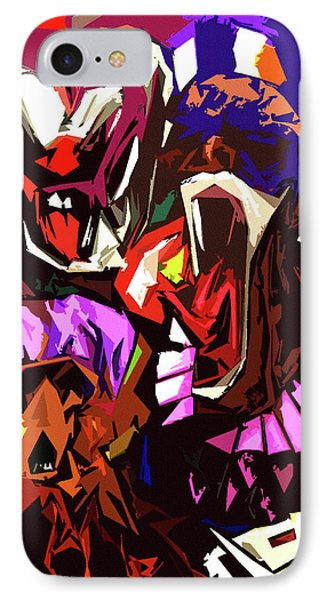 Scary Clowns Abstract IPhone Case by Peter Piatt