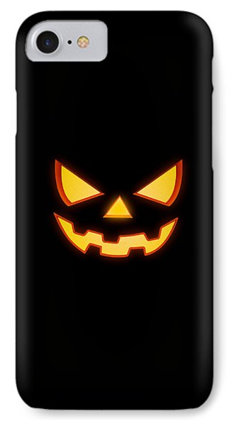 Scary Halloween Horror Pumpkin Face IPhone Case by Philipp Rietz