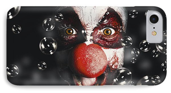 Scary Horror Circus Clown Laughing With Evil Smile IPhone Case by Jorgo Photography - Wall Art Gallery