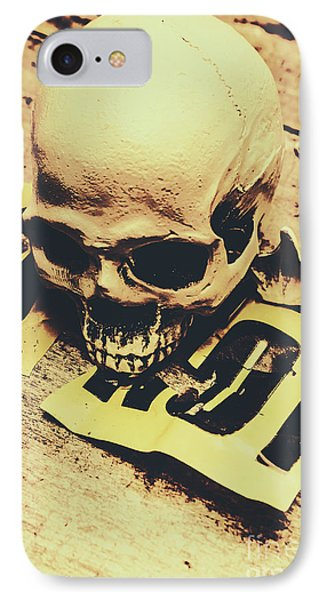 Scary Human Skull IPhone Case by Jorgo Photography - Wall Art Gallery