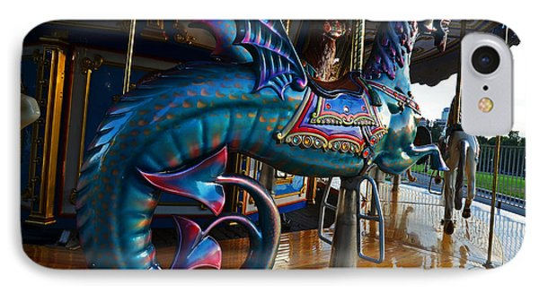 Scary Merry Go Round Boston Common Carousel IPhone Case by Toby McGuire