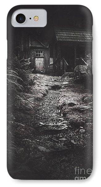 Scary Old Abandoned Hut In Creepy Deserted Forest IPhone Case by Jorgo Photography - Wall Art Gallery