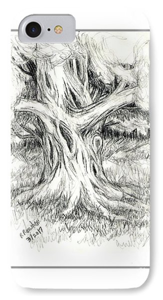 Scary Tree Phone Case by Ruth Renshaw
