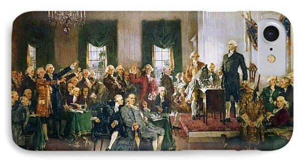 Scene At The Signing Of The Constitution IPhone Case by Howard Chandler Christy