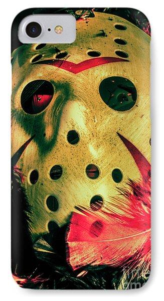 Hockey iPhone 7 Case - Scene From A Fright Night Slasher Flick by Jorgo Photography - Wall Art Gallery