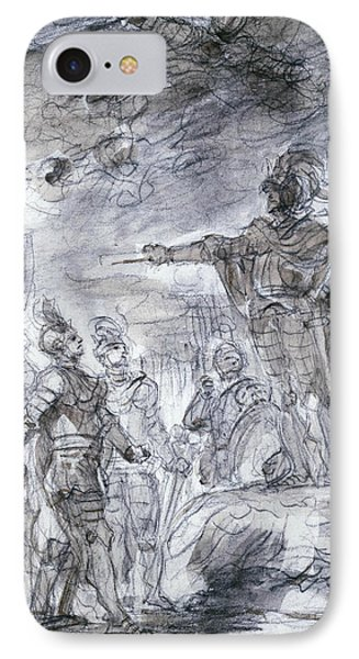 Scene From Ariosto's Orlando Furioso IPhone Case by Jean-Honore Fragonard