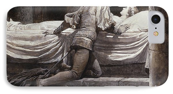 Scene From Romeo And Juliet - The Tomb  IPhone Case by Frank Dicksee