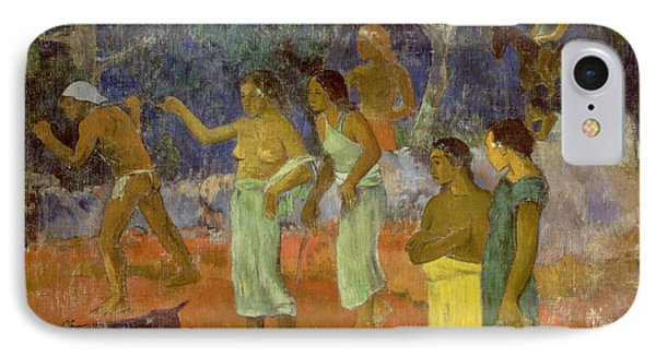 Scene From Tahitian Life IPhone Case by Paul Gauguin