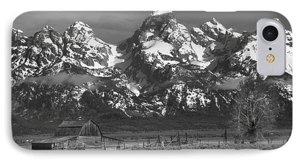 Scenic Mormon Homestead Black And White IPhone Case by Adam Jewell