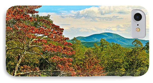Scenic Overlook Blue Ridge Parkway IPhone Case by The American Shutterbug Society