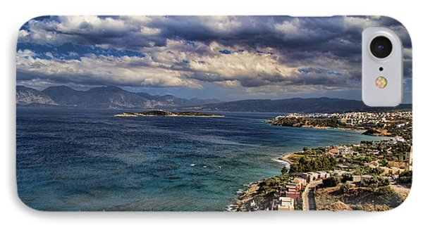Scenic View Of Eastern Crete Phone Case by David Smith