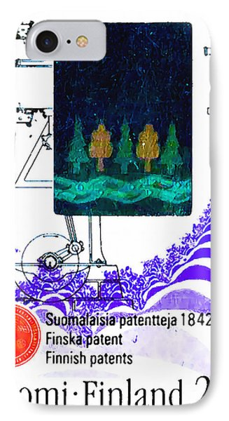 Scetch Of A Blower-grader Machine IPhone Case by Lanjee Chee