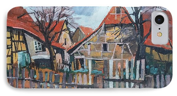Scheunen Am Ortsrand Lienzingen IPhone Case by Martin Stankewitz