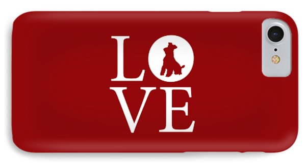 Schnauzer Love Red IPhone Case by Nancy Ingersoll