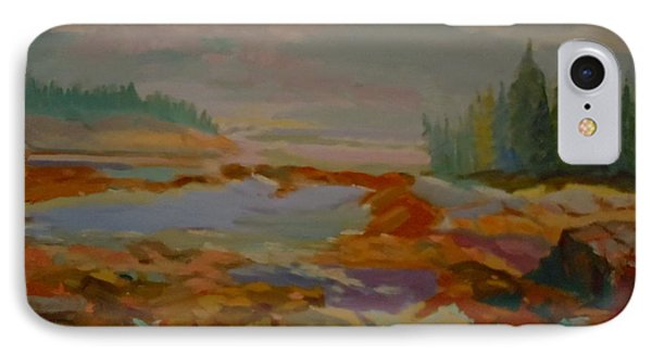 IPhone Case featuring the painting Schoodic Inlet 2 by Francine Frank