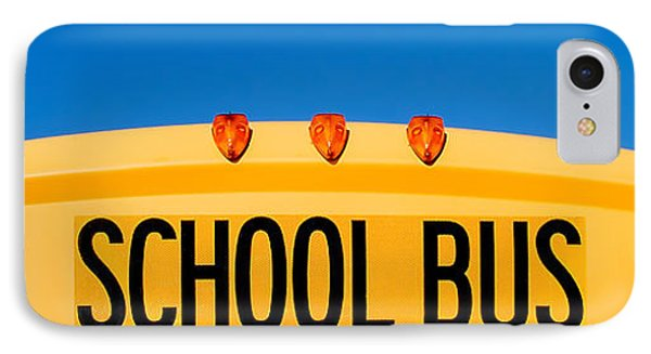 School Bus Top IPhone Case by Todd Klassy