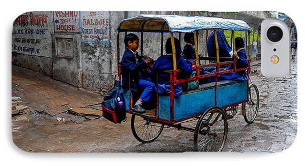 School Cart IPhone Case by M G Whittingham