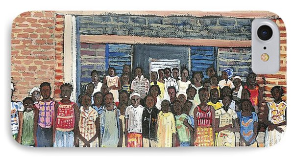 School Class Burkina Faso Series Phone Case by Reb Frost