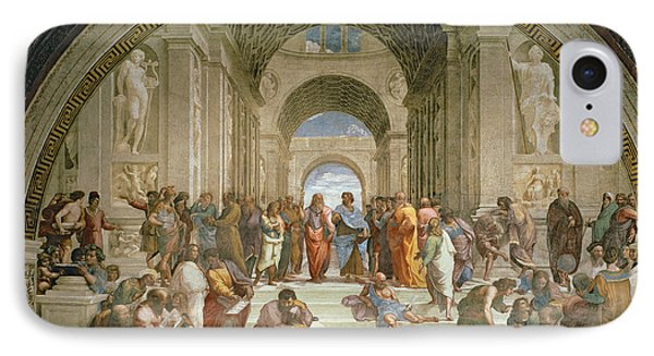 School Of Athens From The Stanza Della Segnatura IPhone Case by Raphael