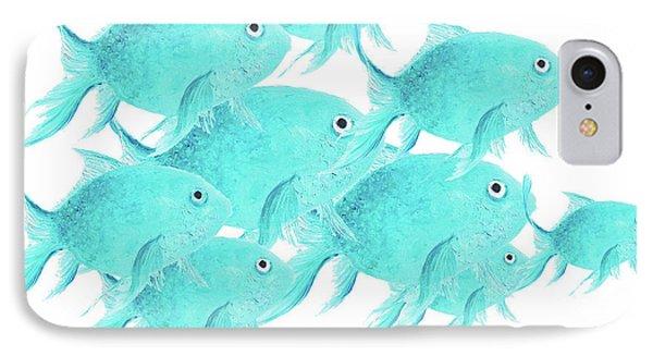 School Of Fish Phone Case by Jan Matson