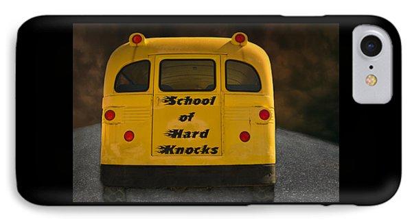 School Of Hard Knocks - Yellow School Bus Message IPhone Case