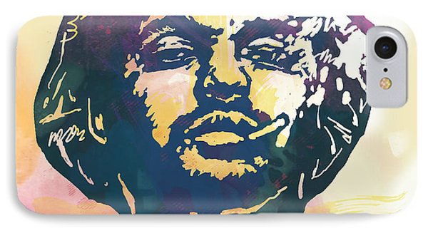 Schoolboy Q Pop Stylised Art Poster IPhone Case by Kim Wang