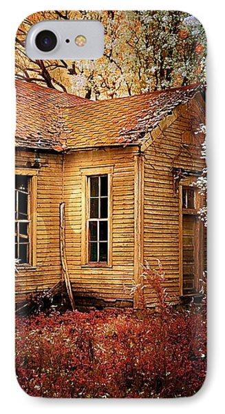 Schoolhouse In The Spring IPhone Case by Julie Dant