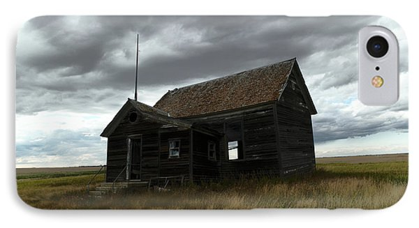 Schoolhouse On The Prairie IPhone Case by Jeff Swan