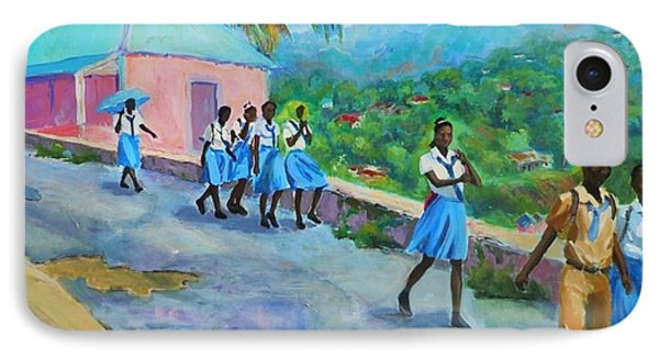 School's Out In Jamaica Phone Case by Margaret  Plumb
