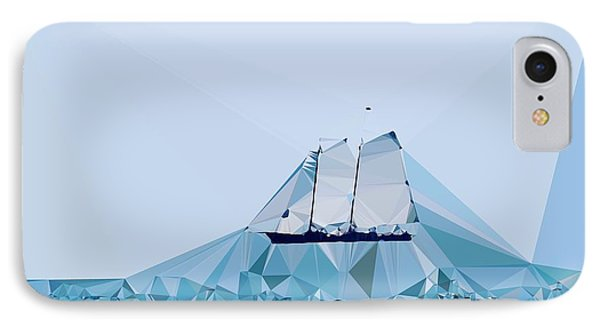 Schooner, Abstracted IPhone Case by Sandy Taylor