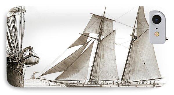 Schooner Lynx Full Sail IPhone Case by Dustin K Ryan