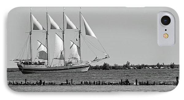 Schooner On Lake Michigan No. 1-1 IPhone Case