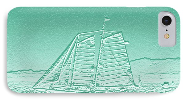 Schooner On New York Harbor No. 3-3 IPhone Case by Sandy Taylor