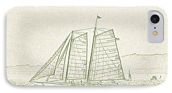 Schooner On New York Harbor No. 3-2 IPhone 7 Case