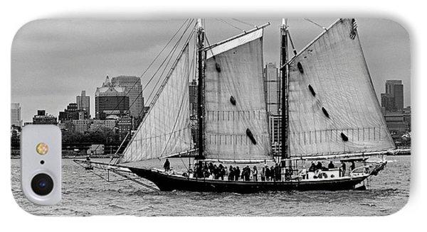 Schooner On New York Harbor No. 1-1 IPhone Case by Sandy Taylor