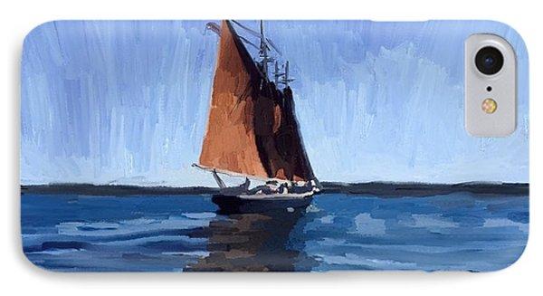 Schooner Roseway In Gloucester Harbor IPhone Case by Melissa Abbott