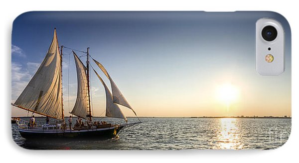 Schooner Welcome Sunset Charleston Sc IPhone Case by Dustin K Ryan