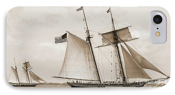 Schooners Pride Of Baltimore And Lynx IPhone Case by Dustin K Ryan