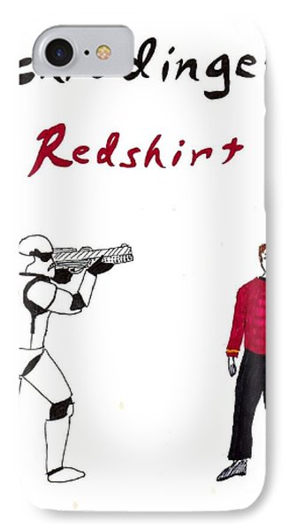 Schrodingers Redshirt Phone Case by David S Reynolds
