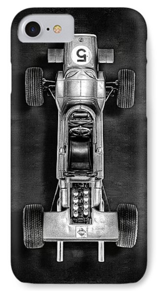IPhone Case featuring the photograph Schuco Matra Ford Top Bw by YoPedro