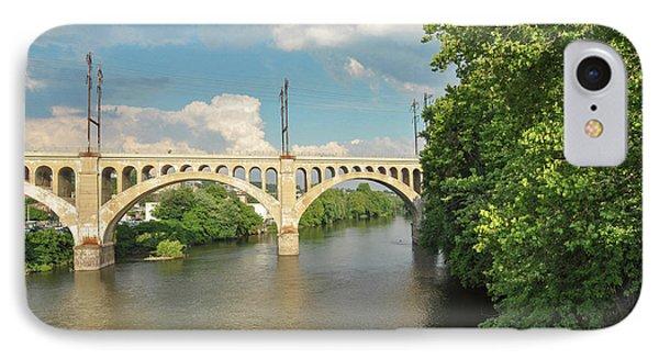 Schuylkill River At The Manayunk Bridge - Philadelphia IPhone Case by Bill Cannon