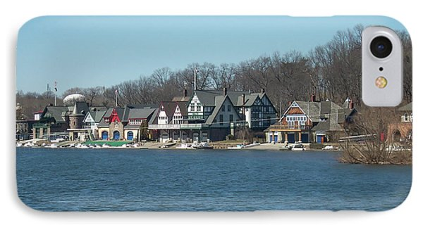 IPhone Case featuring the photograph Schuylkill River - Boathouse Row In Philadelphia by Bill Cannon